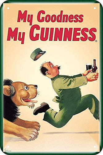 WallAdorn Guinnss with Lion My Goodness My Guinness Iron Poster Blechschild Vintage Wall Decor für Cafe Bar Pub Home 20,3 x 30,5 cm
