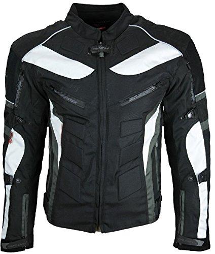 Heyberry Textil Motorrad Jacke Motorradjacke Schwarz Grau Gr. XL - 4