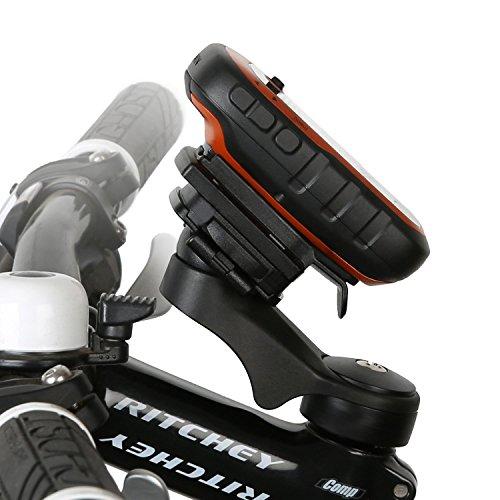 Wicked Chili fietshouder stuur/Ahead houder voor Garmin eTrex, Dakota, Oregon, Approach, Astro, GPSMAP (MTB/racefiets, Made in Germany, QuickFix, 20% carbon)