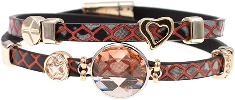 Leather Super beauty product restock quality top! Bracelets OFFicial mail order Crystal Bohemian Charm For