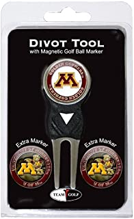 Team Golf NCAA Divot Tool with 3 Golf Ball Markers Pack, Markers are Removable Magnetic Double-Sided Enamel