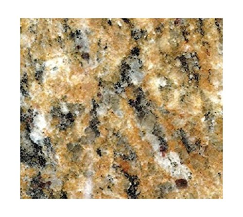 EZ FAUX DECOR Instant Venetian Gold/Santa Cecilia Marble Granite Countertop Film Self Adhesive Vinyl Laminate Counter Top Peel and Stick NOT Contact Paper (36' x 72')