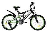 T&Y Trade 20 Zoll MÄDCHEN MTB Mountainbike JUGENDFAHRRAD Kinder Fahrrad KINDERFAHRRAD Bike Rad Kinderrad Fully VOLLGEFEDERT 15 Gang 2700 Schwarz Grün