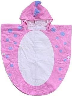 Toalla de baño para niños, con capucha, diseño de