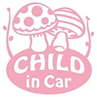 imoninn CHILD in car ステッカー 【パッケージ版】 No.41 キノコさん (ピンク色)