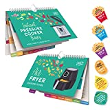Willa Flare Air Fryer & Electric Pressure Magnetic Cooker Cheat Sheets - Perfect Temperature & Cooking Time Guide - Magnet Cookbook for Meat, Beef, Chicken, Pork, Vegetable Meals - Reusable Stickers