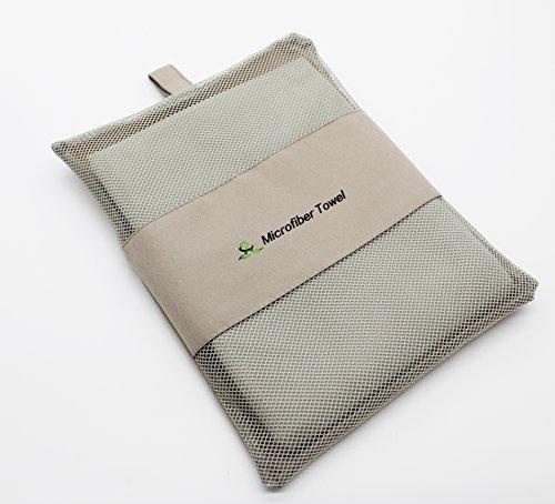 Serviette Microfibre - Séchage Rapide - Drap de Bain Idéal pour Plage, Voyage,Piscine,Yoga,foot,Gym, Camping , Pilates et Salle de Sport (Gris)