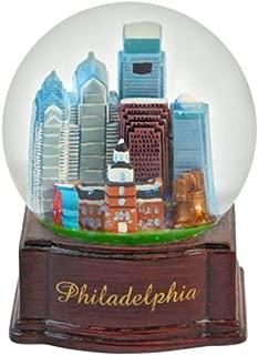 Topline Philadelphia Pennsylvania Snow Globe with Brown Base