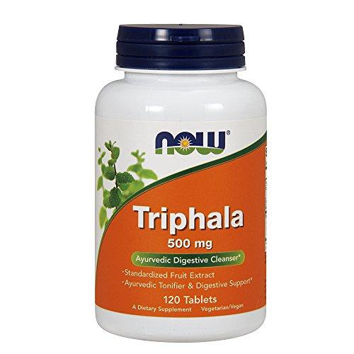 NOW Supplements, Triphala 500 mg, Combination of Harada, Amla and Behada, 120 Tablets