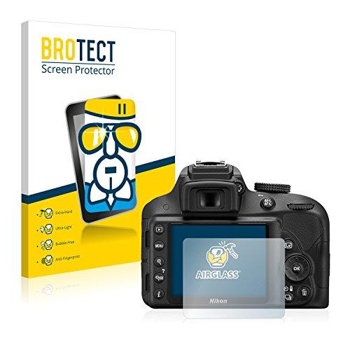 BROTECT Protector Pantalla Cristal Compatible con Nikon D3300 Protector Pantalla Vidrio -...