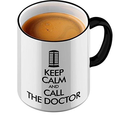 Funtasstic Tasse Keep Calm and call the Doctor - Kaffeepott Kaffeebecher by StyloTex