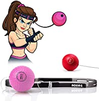 TEKXYZ Boxing Reflex Ball, 2/3/4 Different Boxing Ball with Headband, Softer Than Tennis Ball, Perfect for Reaction,...