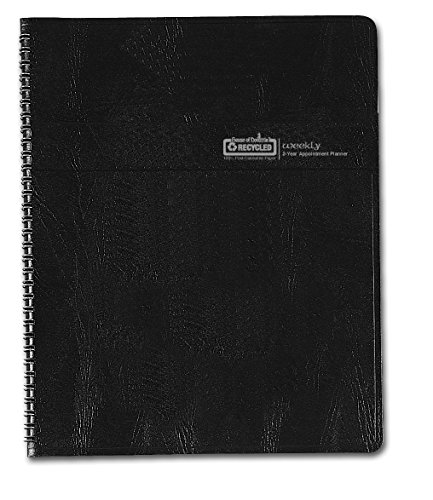 "House of Doolittle 2016-2017 Two-Year Weekly Planner, 8.5"" x 11"", Professional, Black Cover (HOD272002-16)"