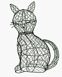 Cat 11 inches high x 9 inches long x 5 inches wide Topiary Frame, Handmade Animal Decoration