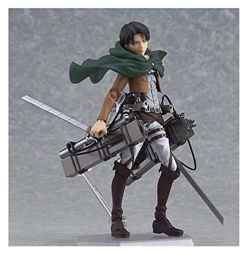 JPSOUP Attack on Titan Anime Figure Eren Mikasa Levi Ackerman Figma 213 PVC Action Figure Collectible Model Toy Collection Gift 15cm Rivaille·Ackerman