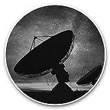 Impresionantes pegatinas de vinilo (juego de 2) 25 cm bw – Divertidas calcomanías de antena parabólica para portátiles, tabletas, equipaje, reserva de chatarras, neveras, regalo fresco #39438