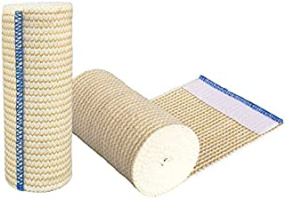 "GT Cotton Elastic Bandage Roll w/Hook & Loop Closure On Both Ends, 4"" Width - 2 Pack"