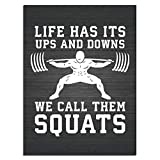 Workout Posters for Home Squat Leg DayPoster Wall Paints for Room Decor Painting Print on Canvas Decorations Living Room Wall Art picuture Unframe-X1 12×16inchs(30×40cm)