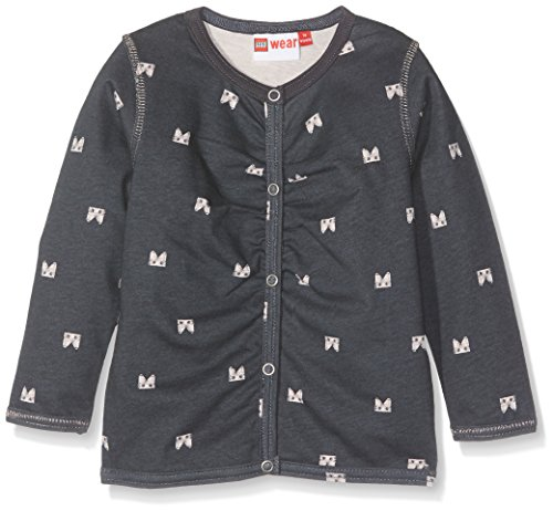 Lego Wear Duplo Girl Stina 601-Sweatjacke Sweat-Shirt, Gris (Dark Grey 984), 18 Mois Bébé Fille