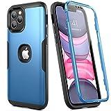 YOUMAKER Hülle für iPhone 12/12 Pro mit eingebautem Displayschutz Kratzfest Baustelle Outdoor Case...
