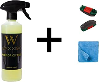 Waxximo COMBIDEAL Interior Cleaner + Microvezeldoek + interieur reinigingsborstel - Bekleding reiniger auto - Interieur re...