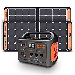 [WHAT IS JACKERY SOLAR GENERATOR 1000]: Solar Generator 1000 is composed of Portable Power Station Explorer 1000 and 2 packs Solar Panel SolarSaga 100W that aims to developing green, quiet and convenient energy solutions. [2000W SURGE WATTAGE SOLAR G...