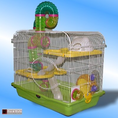Sahara Oasis Grande cage pour hamster avec ouverture par le haut