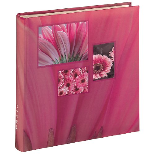 Hama Jumbo Fotoalbum Singo (Fotobuch 30x30 cm, Album mit 100 weißen Seiten, Photoalbum zum Einkleben und zum Selbstgestalten) pink