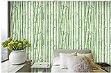 Ballyzess Papel Pintado Autoadhesivo-Bosque De Bambú Verde-Vinilo Adhesivo Muebles De Cocina Efecto Decorativo