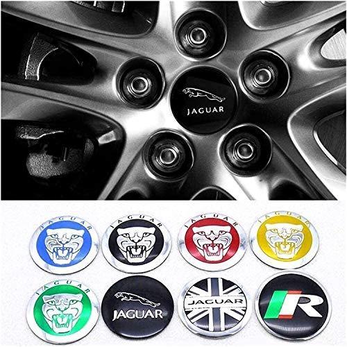 MISSLYY 4 Stück Car Radnabenkappen für Jaguar E Pace Etype Xe Xk Xj Xf F Pace F-Type X-Type S-Type Xjs Xjl Xj6 Xkr,Auto Abzeichen Logo Nabenabdeckungen Staubdicht Styling Zubehör,56mm