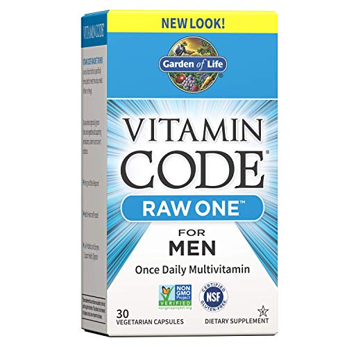 Garden of Life Vitamin Code Raw One for Men - 30 Kapseln I Multivitamin I Männer I Früchte I Gemüse I Probiotika I Enzyme I Vegetarisch