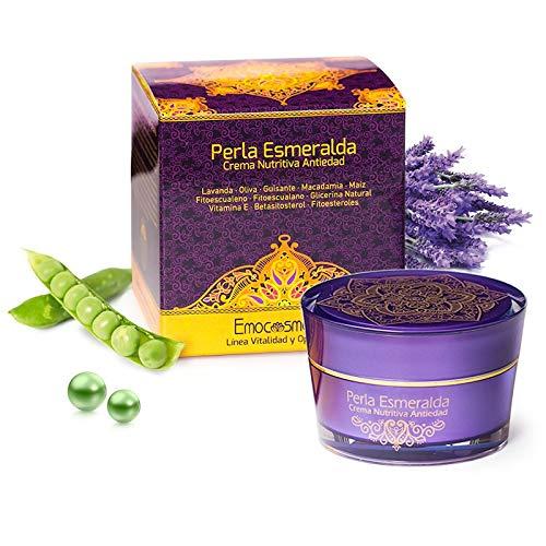 Crema Antiedad Nutritiva con Lavanda y Aceite de Oliva - 'Perla Esmeralda' - 50ml