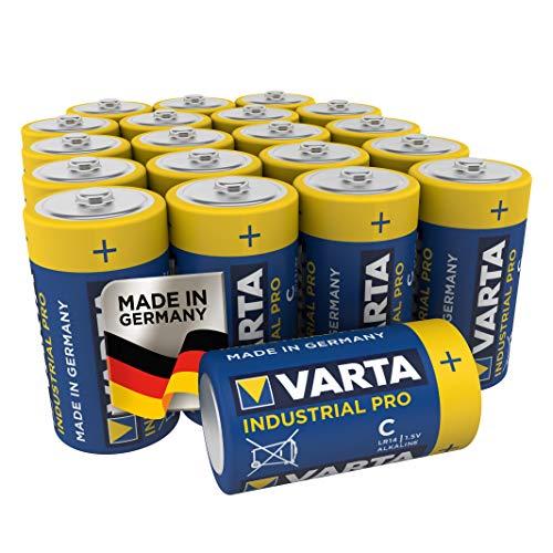 VARTA Industri batteri C (LR14), alkaliskt batteri i 20-pack, Made in Germany
