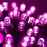 70 5mm LED Pink Christmas Lights, 24' Pink String Lights Valentines Day Holiday Lights Mini Lights Christmas String Lights LED String Lights