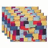 Olumbo PCS/LOT Alimentos apoyos de la foto sábanas de algodón mantel de tela occidental cuadrícula de colores Cojín resistente al calor (Color : Multi-colored, Size : 32 * 45cm)