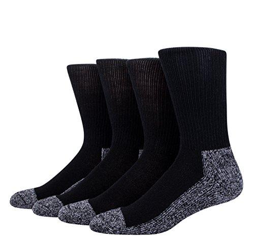 HEAD Power Fusion Moisture Wicking High Socks, Black, 6-12.5 (4 Pairs)