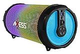 AXESS SPBL1044 Vibrant Plus Black HIFI Bluetooth Speaker with Disco LED Lights In Blue