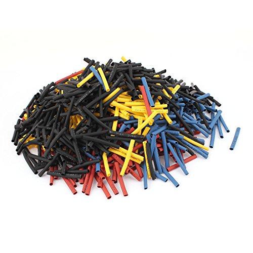 Aexit 1000Pcs 3mm Shaft Collars 2:1 Heat Shrink Tube Sleeving Wrap Wire Heat Shrinkable Shaft Collars Kit Set
