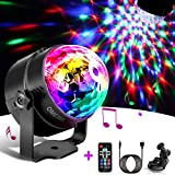 Disco Lights, Techole Sound Activated Disco Ball Lights with 4M/13ft USB Power Cable, 3W RGB Party Lights with Remote Control for Kids Birthday, Family Gathering, Christmas Party, Home-USB Powered