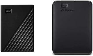 WD 1TB My Passport Portable External Hard Drive, Black - WDBYVG0010BBK-WESN & 2TB WD Elements Portable External Hard Drive...