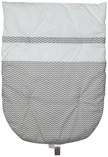 Italbaby Zigzag avtagbart påslakan för vagga, grå, flerfärgad, en storlek