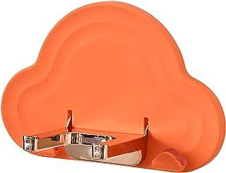 CUTICATE バスルームヘアドライヤーホルダーウォールマウントヘアケア&スタイリングツールオーガナイザーヘアドライヤー用収納バスケット - オレンジ