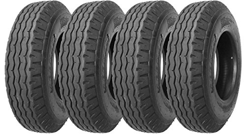 Zeemax Heavy Duty Highway Trailer Tires 8-14.5 14PR Load Range G - Set 4