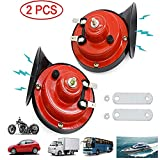 WIKIBB 300DB Train Horn for Truck,Car Air Electric Snail Horn,12V Waterproof Double Air Horns Kit Super Loud for Car,Trucks,Motorcycle, Bikes & Boats(2 Pcs)