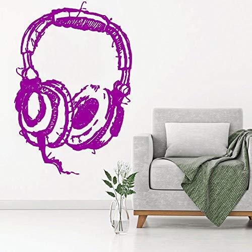Zaosan Hören Kopfhörer Art Wall Decal abstrakte Wandaufkleber Home Fashion Decor Wallpaper