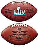 Wilson NFL Super Bowl LIV (54) Official Leather Football in Box - Kansas City Chiefs vs San Fancisco 49ers, Brown (WTF1007ID54)