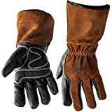 Defiant Metal MIG Welding Gloves - Premium Black and Brown Leather (XLarge)