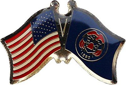 AES Wholesale Pack of 3 USA American State Utah Flag Bike Hat Cap Lapel Pin