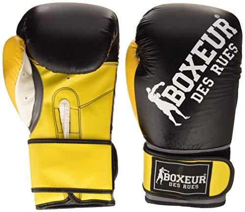 BOXEUR DES RUES BXT-5124 Guantes Impact de Boxeo con Logo, Adultos Unisex, Amarillo, 10 OZ