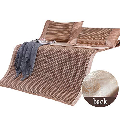 ZHAOHUI-Estera de dormir verano Rota Cama para Suave Agradable para La Piel Respirable Estera De Paja Interior Doble Cara, 6 Estilos (Color : A-2x2.2m)